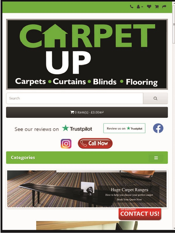 CarpetUp ecommerce Website Design by Ezyhosting